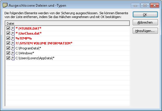 Windows-Systemordner sind häufig vor Zugriff geschützt. Kein Datensicherungsprogramm kann diese Dateien sichern, was in der Folge Fehlermeldugnen generiert. Hier zeigen wir Ihnen, wie sie diese mit Langmeier Backup unterdrücken können.