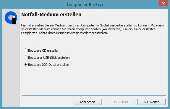 Create bootable ISO-Image
