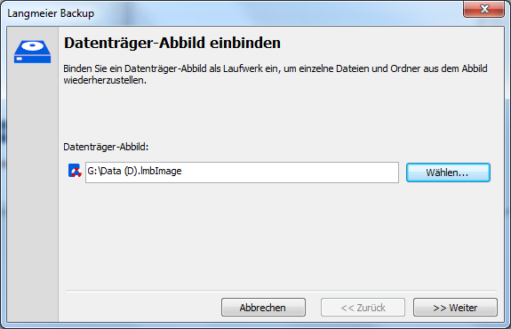 Einzelne Dateien aus einem Abbild wiederherstellen? Diesen oft geäusserten Kundenwunsch haben wir in Langmeier Backup 9 berücksichtigt.
