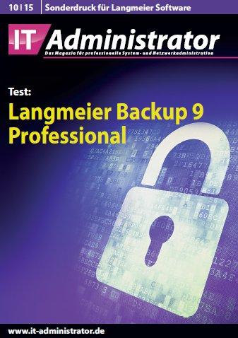 Das Magazin IT-Administrator hat unser Backup-Programm Langmeier Backup 9 auf Herz und Nieren getestet. Lesen Sie unsere Lieblingszitate oder den ganzen Artikel.