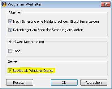 Betrieb als Windows-Dienst - Langmeier Backup als Windows-Dienst: Ihre Datensicherung und automatisches Windows-Backup wird auch ohne angemeldeten Benutzer zuverlässig ausgeführt.
